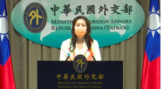 外交部發言人歐江安。(取自外交部直播)