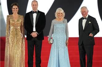美到超越女主角 《007》首映凱特王妃超深V炸胸閃爆紅毯