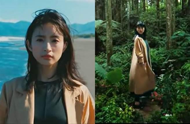 林依晨9月釋出的汽車廣告都只拍上半身或拉遠景。(圖/翻攝自Ford Taiwan的YouTube)