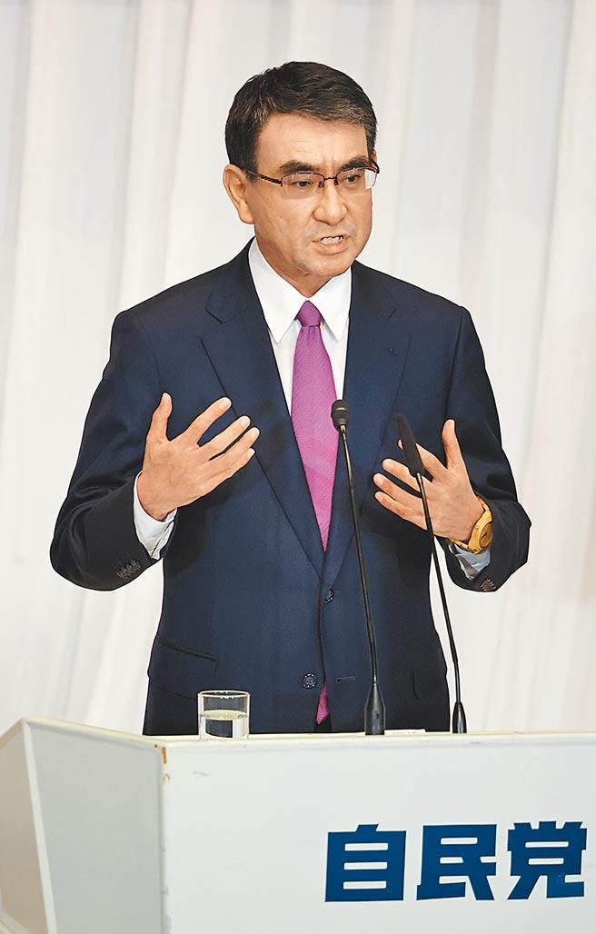 日本自民黨總裁選舉29日投票,行政改革擔當大臣河野太郎可望拿下第一。(新華社資料照片)
