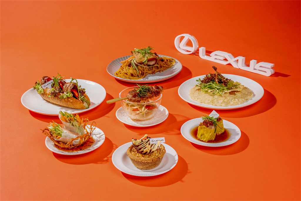 10月1日起至12月31日特別攜手台北晶華酒店獨家合作,推出五星美食共四款前菜以及三款小主食。(圖/LEXUS提供)