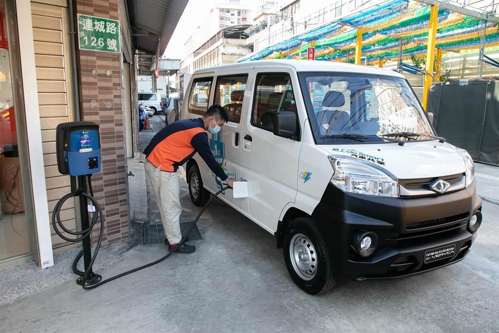 推動綠色運輸,中華汽車聯手格上車共享,推出中華菱利電動商用車租借服務。(圖/中華提供)