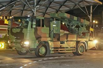 國慶預演多輛軍車現身台北街頭 陸軍新購飛彈「陸射劍二」首亮相