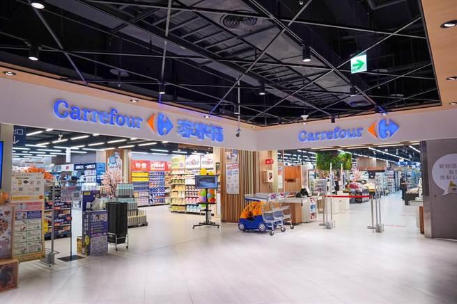 家樂福青埔店進駐Global Mall桃園A19,營業面積600坪。(家樂福提供)