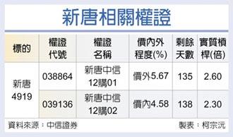 權證星光大道-中國信託證券 新唐 第四季業績拚高