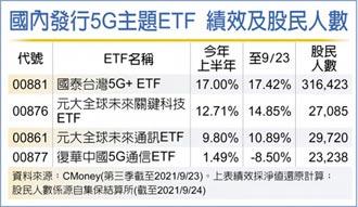 5G產業鏈商機擴大 ETF長線走多