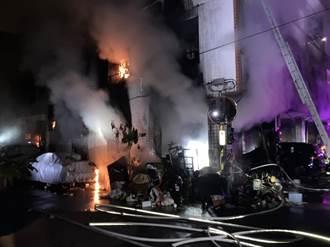 台中公寓惡火1死8傷 民眾狂呼奔逃疑電線走火釀禍