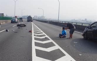 白牌重機車騎上快速道路 被撞還得罰6千