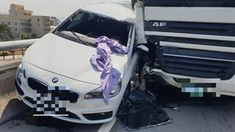 停台61線路邊遭聯結車追撞 BMW駕駛昏迷