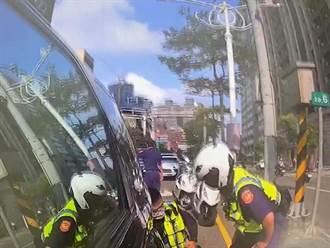 男子逾期居留拒檢 逆向還試圖衝撞員警 警破窗逮人