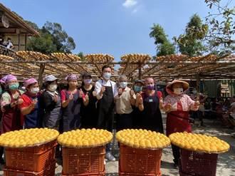 林智堅倡議大新竹合併 請益之旅到竹縣看柿餅