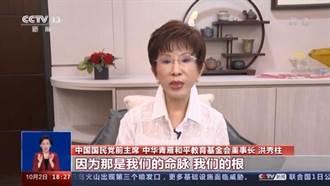 洪秀柱:反獨促統是國共兩黨的共同使命