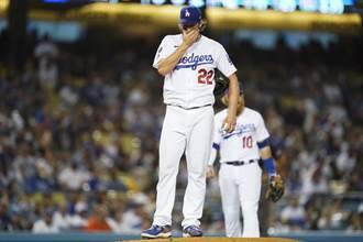 MLB》道奇左投柯蕭受傷 季後賽恐無法登板