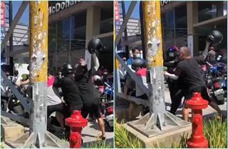 竹北麥當勞驚見「功夫熊貓」 多名外送員互毆安全帽當凶器狂槌
