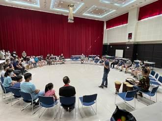 新北消防局幫同仁紓壓 闔家學習非洲鼓