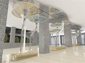 豐原轉運中心明年啟用 鐵道主體意象先亮相