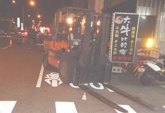 撞上路邊卸貨推高機前叉 台中2年輕人雙雙不治身亡