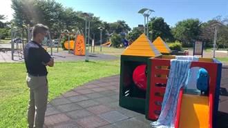 遊民霸占台東兒童遊戲場 被單衣物掛遊戲器材曬 家長看傻眼