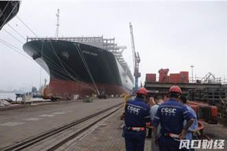 長賜號靠泊青島 船艏受損在北船重工維修逾20天