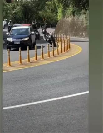 北宜過彎超車巡邏車還嗆「抱歉借過」 重機女下場曝光