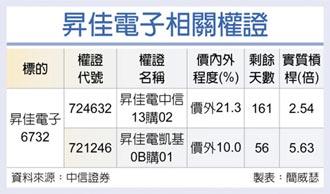 權證星光大道-中國信託證券 昇佳電子 Q3獲利看俏