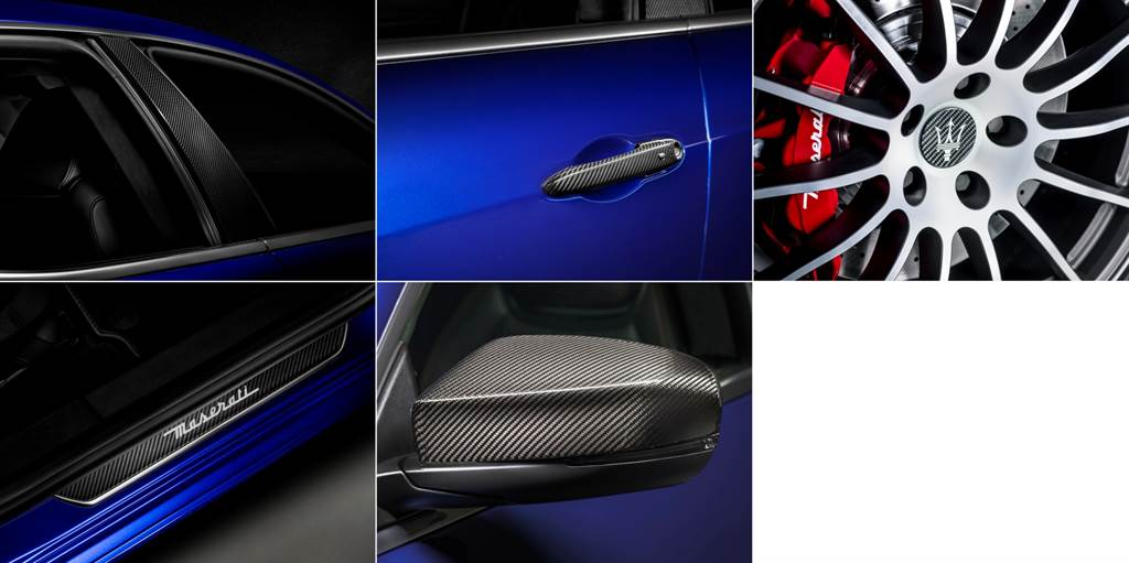 Nero碳纖維套件包含後視鏡外蓋、車門把手、B柱、尾翼、迎賓踏板、輪圈蓋。(圖/業者提供)