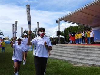 全國運動會聖火抵花蓮 東奧田徑台灣唯一女將謝喜恩接棒