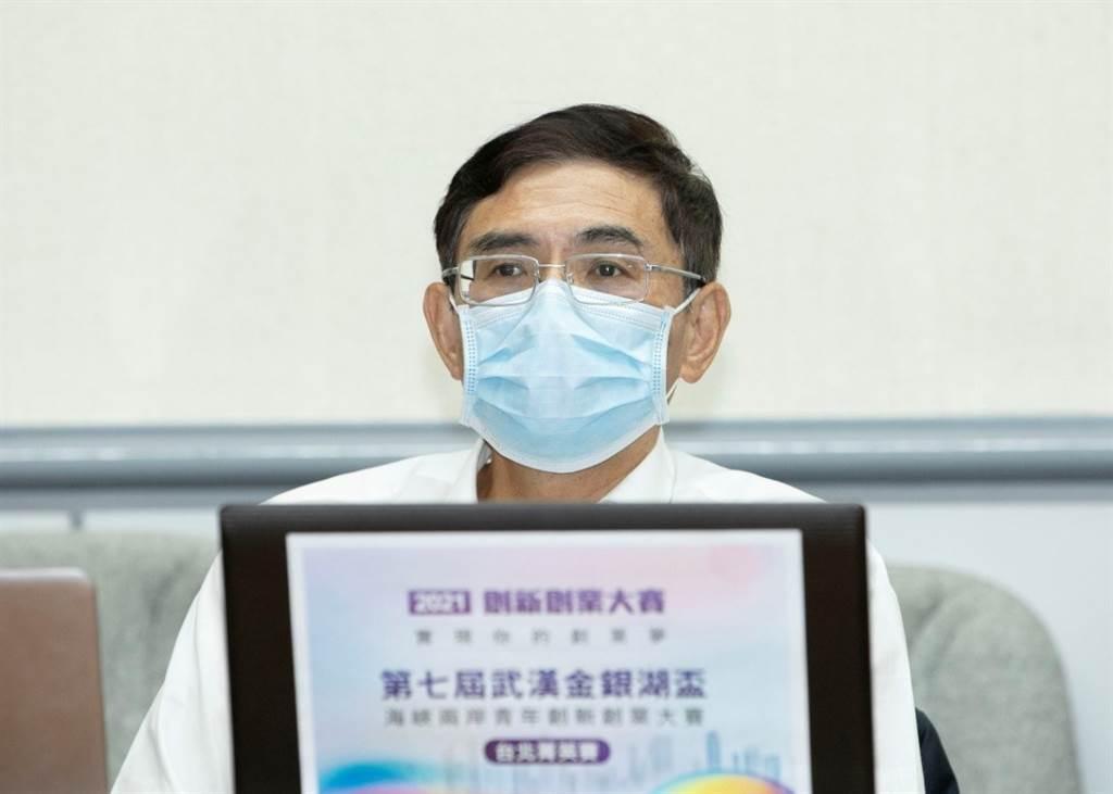 第七屆武漢金銀湖盃兩岸青年創新創業大賽評審:中華大健康服務促進協會呂庭華理事長。(攝影/林勝發)