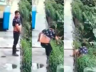 路邊尿尿成「摔鳥俠」 男掉落邊坡消失成真實版「尿遁」