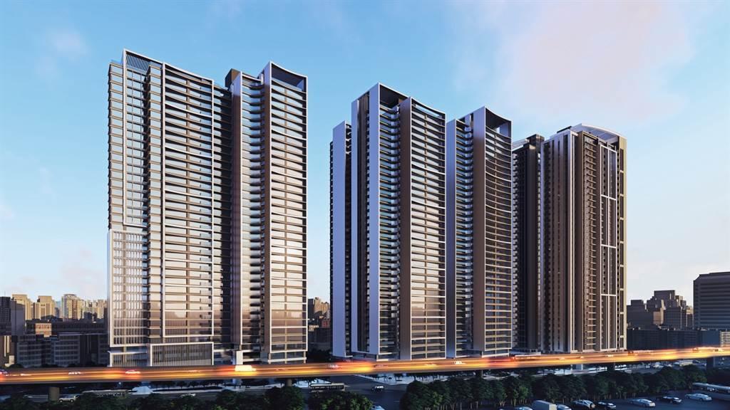 永和大陳社區單元6、7新北市公辦都更案外觀設計圖示意。(圖/漢皇集團提供)