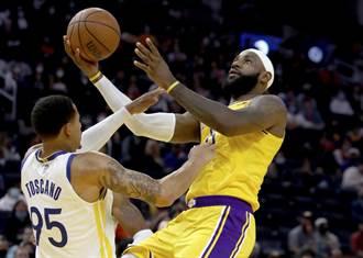 NBA》詹皇韋少上場也救不了 湖人遭勇士修理3連敗