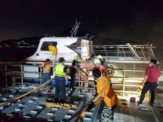 淡水煙火秀前夕交通船引擎室起火 船艙竄濃煙影片曝光