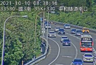 國慶連假第2日 預料下午10路段塞車
