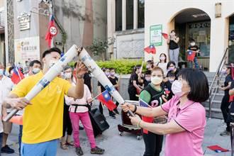 全運會聖火抵達坪林 區長周慶珍傳遞運動精神