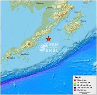 阿拉斯加發生芮氏規模7地震 暫無海嘯警報