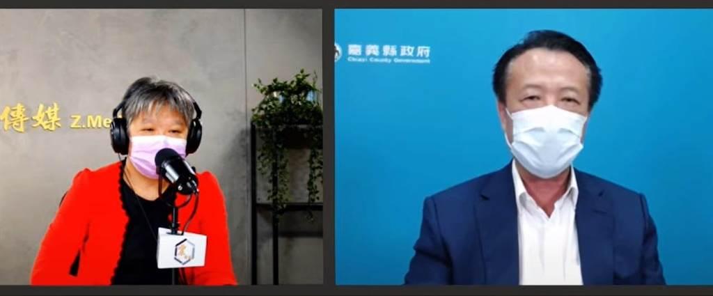 翁章梁接受媒體人黃光芹專訪時針對國土規畫,表示已經從總統蔡英文的國慶談話中看到總統的態度,相信總統會處理,拭目以待。(呂妍庭翻攝)