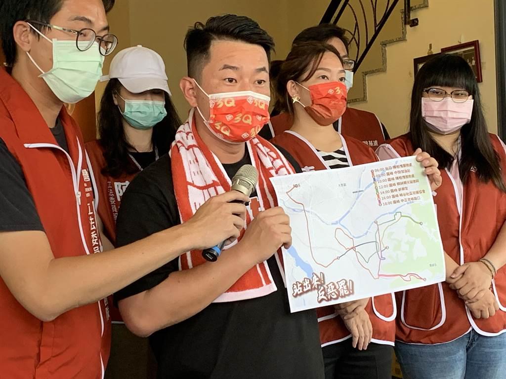 台灣基進黨立委陳柏惟談罷免,強調這從頭開始就是一場「熱戰」。(林欣儀攝)