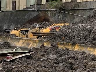 桃園砂石廠側牆破洞坍塌 計程車駕駛遭活埋2小時死亡