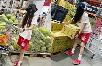 颱風天賣場穿短褲秀美腿忙囤貨 竟是野生入圍三金甜美女星
