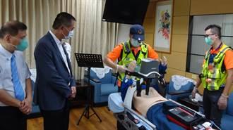 強化雲林救護量能 立委林文瑞捐自動心肺復甦機、防毒面具