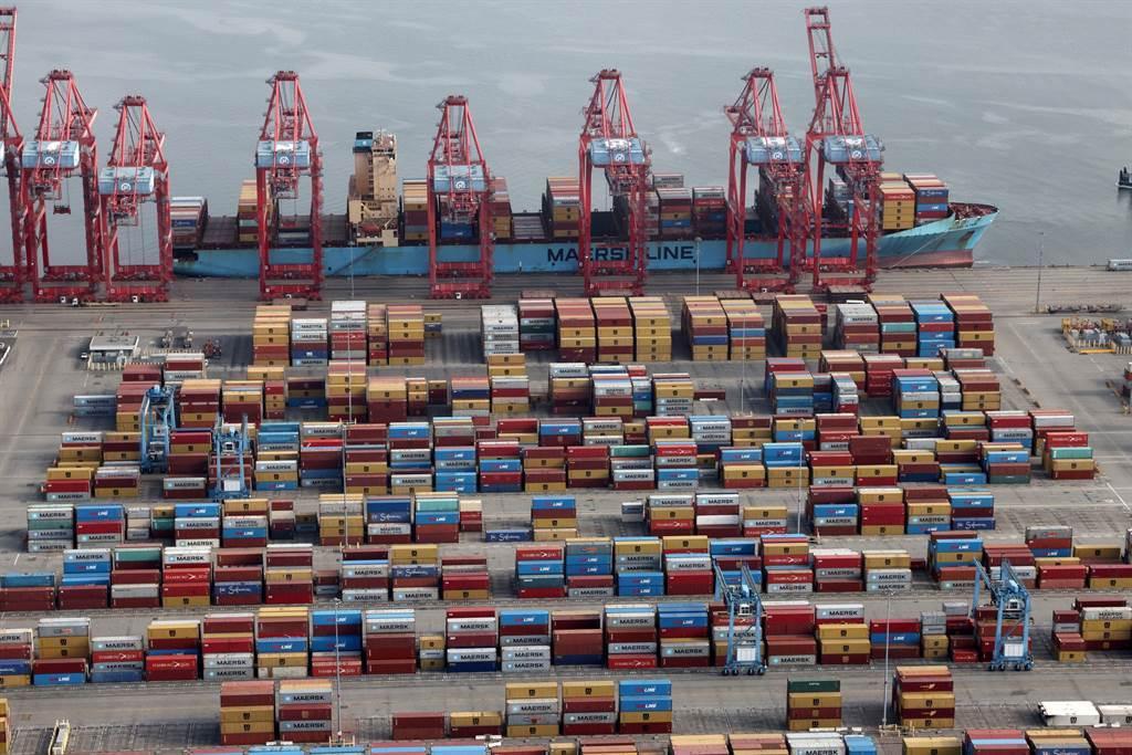 美西港口持續阻塞。(圖/路透資料照)