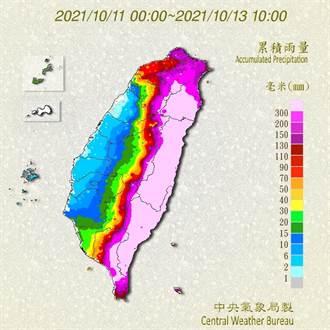 半個台灣紫到發亮 雨量破千毫米 專家示警:還沒下完
