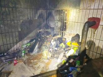 北車地下2樓月台雜物突燃燒 站內竄黑煙站務員急滅火