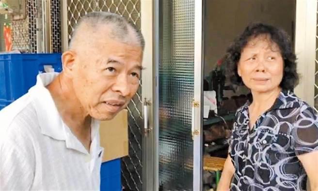 被害警察的父親(左)聽到一審判決後,曾悲憤表示「兒子比什麼都不如」。(中時資料照 張亦惠攝)