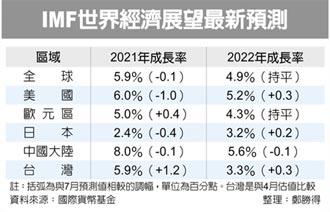4.7%→5.9% IMF大幅調升台灣今年經濟增速