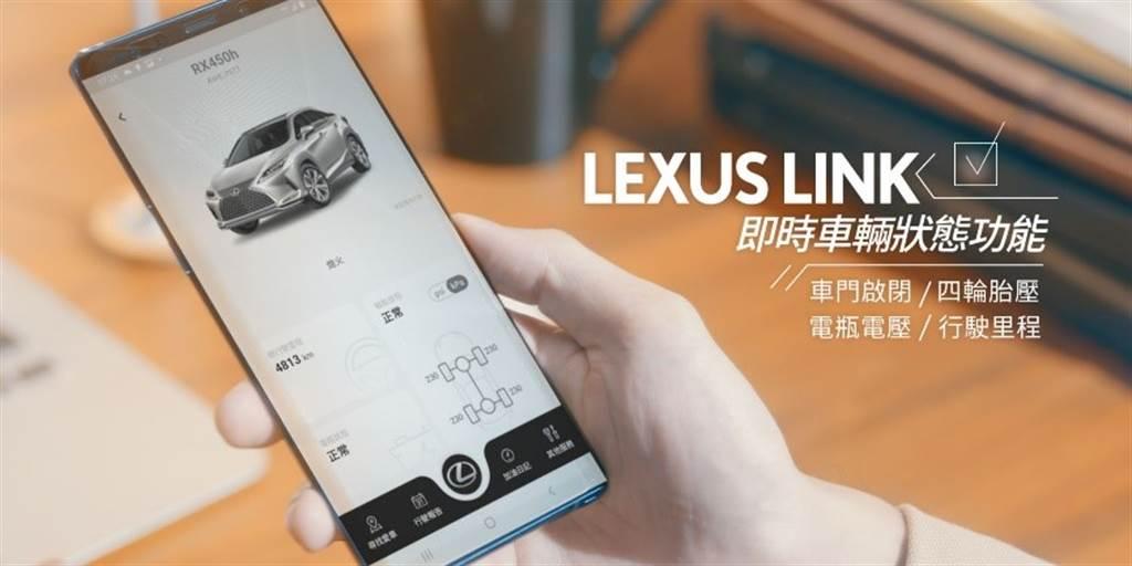 全新ES全面標配「LEXUS LINK智能車載系統」,車主將可以透過Lexus Plus App即時掌握愛車資訊。(圖/和泰汽車提供)