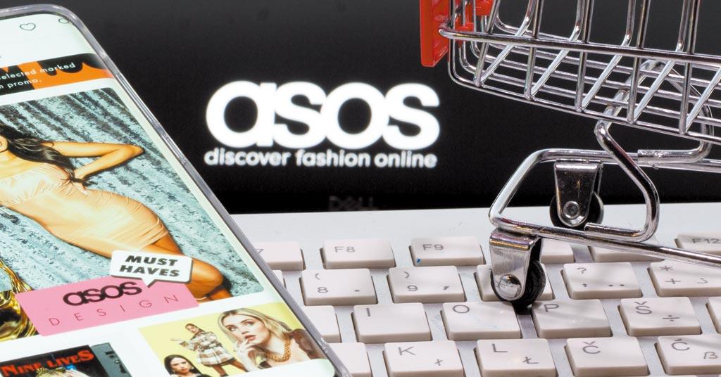 供應鏈遇瓶頸讓快時尚快不起來,英國線上時尚零售商ASOS上周發出財測預警,今年全年獲利恐銳減逾40%。圖/路透