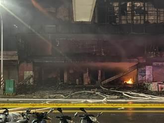 鹽埕大火監視器拍到火光 起火點在一樓入口啟人疑竇