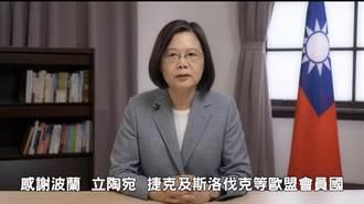 蔡英文:區域安全、經貿等 台灣都是歐盟值得信賴夥伴