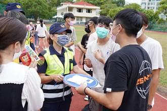 守護外送員、學生機車行車平安 新竹市警交通隊全力宣導